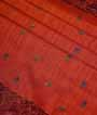 Deep Orange Soft Tussar Saree 2