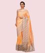 Light Orange Banarasi Silk Saree 1