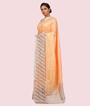 Light Orange Banarasi Silk Saree 2
