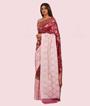 Baby Pink/Wine Banarasi Silk Saree 2