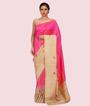 Rani Pink Banarasi Silk Saree 1