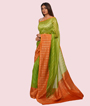 Pista Green Kora Silk Saree In Gold Zari 2