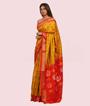 Mustard Ikkat Silk Saree In Gold Zari 2