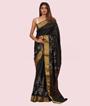 Black Ikkat Silk Saree 1