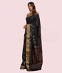 Black Ikkat Silk Saree 2