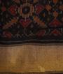 Black Ikkat Silk Saree 3