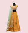 Yellow Lehenga Choli in Silk with Handwork 1