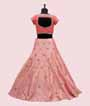 Pink and Peach Lehenga Choli with Handwork 3