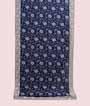 Navy Blue Tussar Silk Saree Thread Work 1