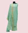 Light Green Unstitched Linen Salwar Kameez 1