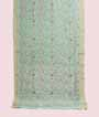 Pastel Green Linen Saree With Embroidery 1