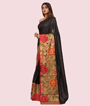 Black Tussar Silk Saree Ghicha Work 2