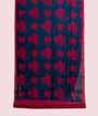 Rama Blue Soft Tussar Saree Floral Print 1