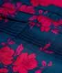 Rama Blue Soft Tussar Saree Floral Print 2