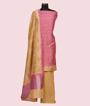 Pink Unstitched Salwar Kameez 1