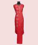 Red Unstitched Salwar Kameez 2
