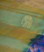 Green Soft Silk Saree  Gold Zari 2