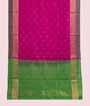 Magenta / Pink Soft Silk Saree  Gold Zari 1