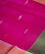 Magenta / Pink Soft Silk Saree  Gold Zari 2