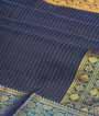 Dark Grey Kanjivaram Saree  Gold Zari 2