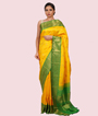Yellow Kanchipuram Saree In Gold Zari 1