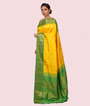 Yellow Kanchipuram Saree In Gold Zari 2