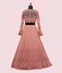 Candy Pink Lehenga Choli In Lucknowi Chikan 4