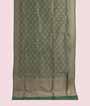 Green Banarasi Saree Katan Silk Hf Gold Zari 1