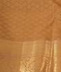 Yellow Kanchipuram Saree Brockit Blouse In Pure Gold Zari 3