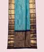 Rama Blue Kanjivaram Saree In Gold Zari 1