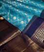 Rama Blue Kanjivaram Saree In Gold Zari 2