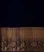 Rama Blue Kanjivaram Saree In Gold Zari 3