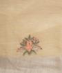 Pista Green Linen Saree Embroidery Work 3