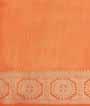 Light Orange Soft Tussar Saree Anttic Zari 3