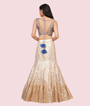 Cream And Blue Lehenga Choli 3