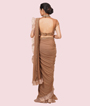 Chickoo Lycra And Net Saree 3
