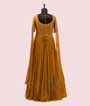 Mustard Gown in Georgette with Long Sleeves 3