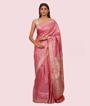 Onion Pink Banarasi Tussar Saree 1