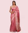 Onion Pink Banarasi Tussar Saree 2
