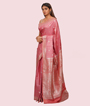 Onion Pink Banarasi Tussar Saree 3