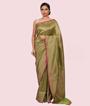 Pista Green Banarasi Katan Silk Saree 1