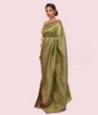 Pista Green Banarasi Katan Silk Saree 2