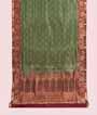 Green Uppada Saree Hf Gold Zari 1