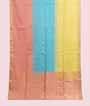 Multicolour Soft Silk Saree  Gold Zari 1