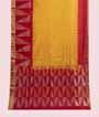 Yellow and Red Soft Silk Saree  Gold Zari 1