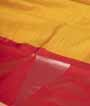 Yellow and Red Soft Silk Saree  Gold Zari 2