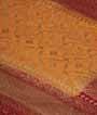 Orange Banarasi Saree Khadi Georgette Anttic Zari 2