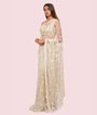 Off White Net Saree Cutdana With Pearl Work 2