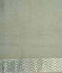 Grey Banarasi Tussar Saree With Tussar Zari 3
