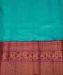 Light Blue Kanjivaram Saree Hf Gold Zari 3